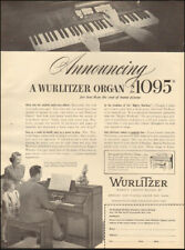 1949 Vintage ad for Wurlitzer Piano and Organs`photo Price    (030118)