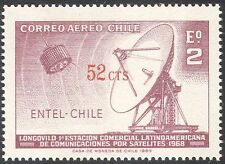 Chile 1969 Communications Satellite/Radio Dish/Space/Surcharge 1v (n24590)