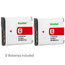 2x Kastar Battery for Sony NP-BG1 DSC H55 H70 H90 W120 W170 W210 W215 W220 W230