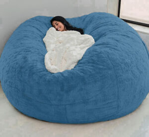 Microsuede 7ft Foam Giant Bag Bean Living Room Memory Chair Lazy Sofa Soft Cover