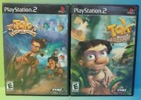 Tak and Juju + Tak JuJu Challenge - PS2 Playstation 2 Game Lot Tested + Working