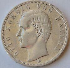 German States BAVARIA 5 Mark, 1904 D, Otto von Bayern