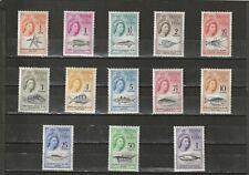 a88 - TRISTAN DA CUNHA - SG42-54 MLH 1960 MARINE LIFE DEFINITIVES - CV £80.00