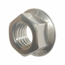 1/4-20 Stainless Steel Flange Nuts Serrated Base Lock Anti Vibration Qty 50
