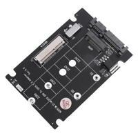 2X(2 In 1 NGFF M.2 B + M Key Mini PCI-E Oder MSATA-SSD Zu SATA III Adapter  7W7)