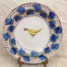 Rare plat creux faïence DELFT 18° XVIIIe Élégant décor faisan royal doré BEG D30