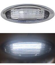 RV Trailer LED Exterior Chrome Porch Patio Ramp Light Clear Acrylic Lens 12V