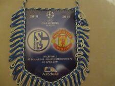 FC Schalke 04 Original UEFA CHAMPIONS LEAGUE Halbfinal Wimpel,Banner 2010/11 Neu
