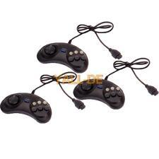 3X neue 6 Button Controller Joystick für Sega Genesis Spiel-Schwarz