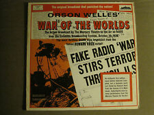 ORSON WELLES' WAR OF THE WORLDS (RADIO BROADCAST) 2LP '69 EVOLUTION 4001 VG++
