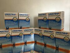 UNISTRIP 1 Blood Glucose 500 Test Strips, 10 BOXES OF 50, FAST FREE SHIPPING