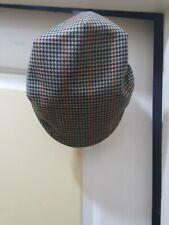 Gents, BARBOUR Tweed Flat Hat. Size M. Colour Biege.