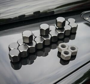 Land Rover Defender 316 Stainless Steel Black Capped Wheel Nuts - Uproar 4x4