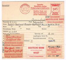 Gummersbach 1937 Deutsche Bank Rheinische Westfälische AFS Archivkarte Unikat