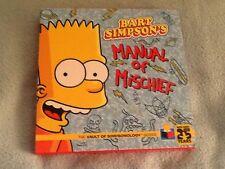 Bart Simpson's Manual of Mischief HC The Vault of Simpsonology Series #1-1ST NM