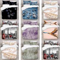 UK Made 3D New Mix Precious Design Digital Duvet Quilt Cover With Pillowcase