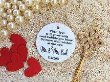10 Kraft White Gift Tags Wedding Favour Bomboniere Personalised Bubble tags