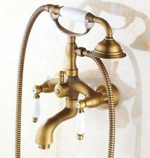 Antique Brass Wall Mounted Bathroom Clawfoot Tub Faucet With Hand Shower ytf314