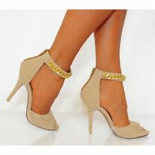 High (3 in. and Up) Stiletto Suede Open Toe Heels for Women