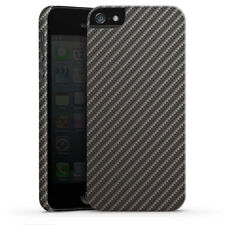 Apple iPhone 5 Premium Case Hülle Cover - Carbon