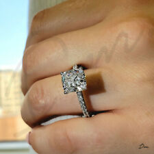 1.50 TCW Natural Cushion Cut Pave Set  Diamond Engagement Ring - GIA Certified