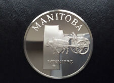 1975 Franklin Mint Winnipeg Manitoba Sterling Silver Medal D9918