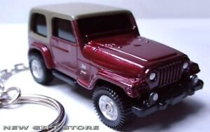 RARE KEY CHAIN RING BROWN/MAROON TAN JEEP WRANGLER 4X4 BRAND NEW LIMITED EDITION