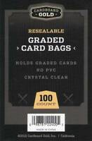 10,000 (2 CASES) CBG Resealable Graded Baseball Trading Card Poly Sleeves Bags