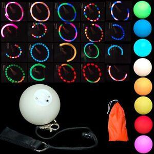 Pro LED Glow Poi - Multi Function Effect - Light Up Poi Balls - Glow Spinning