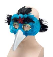 Bird Feather Mask & Beak.Turquoise,  MASQUERADE EYE MASK, FANCY DRESS #AU