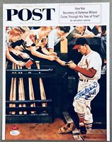 Stan Musial Cardinals signed 11x14 autographed Norman Rockwell Artwork STM & JSA