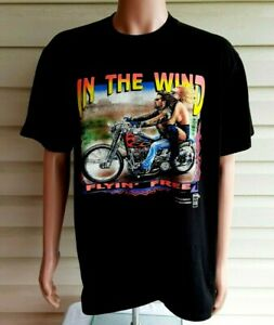 Vtg 1995 Easyriders Extra Large, Short Sleeve Tee Shirt, Harley, 3D Emblem