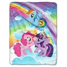 New High Five My Little Pony Rainbow Dash Plush Fleece Throw Gift Blanket SOFT