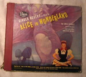 CRANIUM'S Walt Disney ALICE IN WONDERLAND 78 rpm cover art by WALT Ginger Rogers