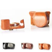 PU Leather Protector Case Bag With Strap For Fujifilm Fuji  XA3 16-50mm Camera