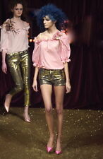 ANDREW MACKENZIE Auth Bronze Leather-like Shorts Sz US 6 IT 40
