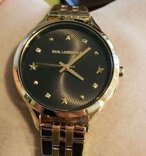 Karl Lagerfeld Karoline KL3010 Watch with 38mm Black  Face & Golden Breclet