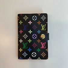 Authentic Louis Vuitton Murakami Black Multicolor Wallet (Address Book)