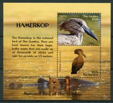 Gambia 2017 MNH Hamerkop National Bird 2v S/S Birds Stamps