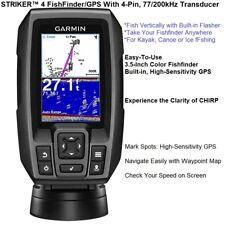 Garmin STRIKER™ 4 FishFinder/GPS, With Waypoint Map And 77/200kHz TM Transducer