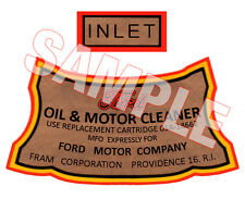 1932 1948 Ford Flathead Oil Filter Decal Hot Rod V8 1940 1934 Car Truck Pickup