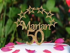 Personalised Birthday Cake Topper With Semi-circle of Stars