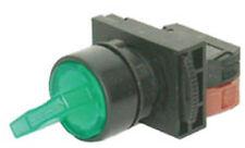 NHD NLS22-L310GE 3 Position Green Illuminated Long Shaft Switch 1A 110V