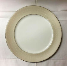 "MONIQUE LHUILLIER ""ETOILE PLATINUM"" TAN SERVICE PLATE 11 7/8"" ROYAL DOULTON NEW"
