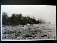 N. Moser,NY~ Battle Ship Departing at High Speed~RPPC