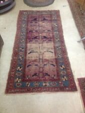 New listing Antique Persian Oriental Tribal Rug Primitive Country Well Worn Hamadan 78x38