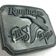 1980 Remington First in the Field Belt Buckle ** Canada Goose ** Vintage