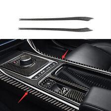 Fit For Jaguar XE 2016-2019 Real Carbon Fiber Console Gear Shift Both Side Trim