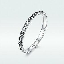 Европейское женское серебро 925 пробы ретро узоры свадебные кольца для пальцев размер 6-8