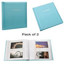 2x Grande Bleue 5 x 7 slip en cas Album photo mémo pour 120 détient-al-9143-2pk